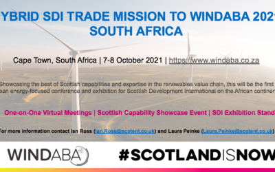 Calling all Scottish companies looking for international opportunities in the Wind Energy Sector. Trade Mission to Windaba Cape Town 2021